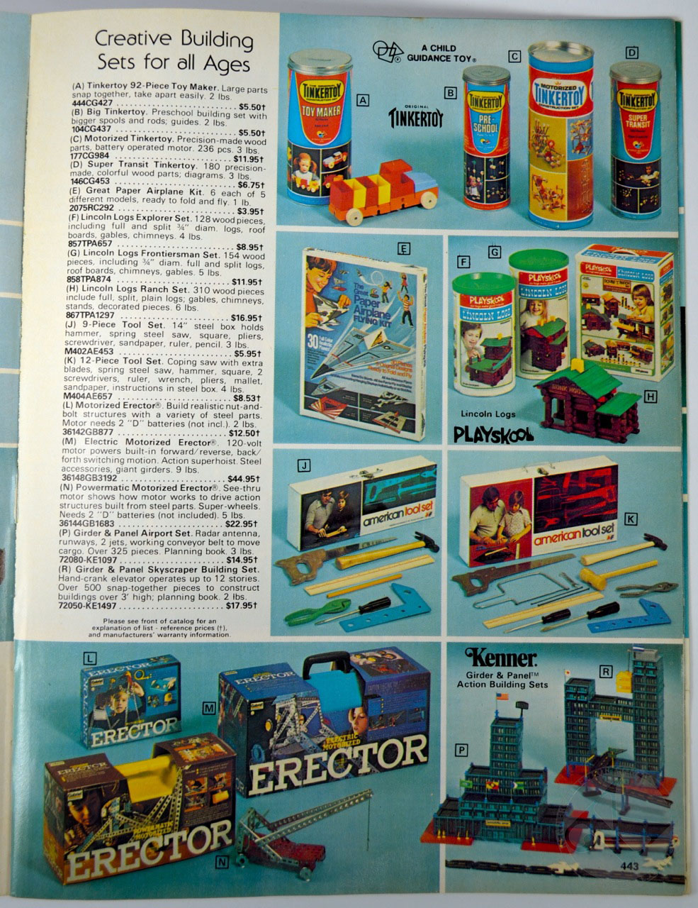 kenner toys in the 1978 service merchandise catalog. Black Bedroom Furniture Sets. Home Design Ideas