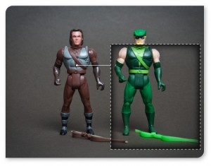 Kenner's Robin Hood & Super Powers Comparison