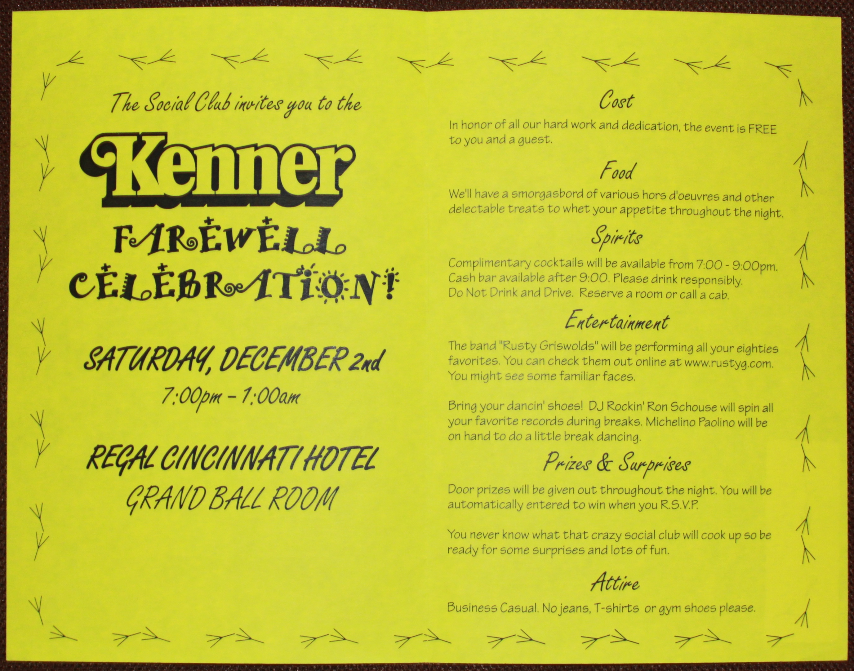 Kenner farewell party invitation kennercollector kenner employee farewell invitation stopboris Choice Image