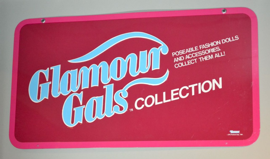 Kenner 1981 Glamour Gals Double-Sided Metal Store Display