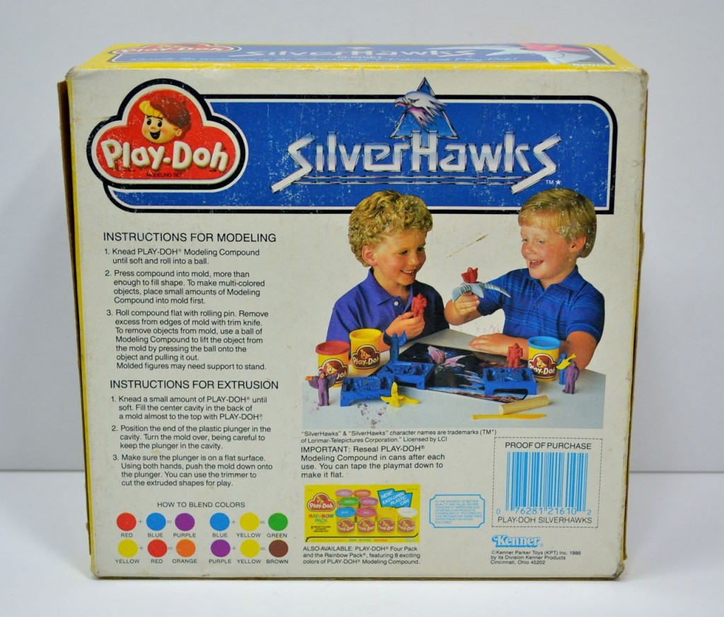 Kenner Silverhawks Play-Doh Playset Box