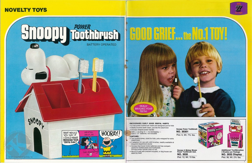 Kenner 1973 Toy Fair Catalog Snoopy Toothbrush