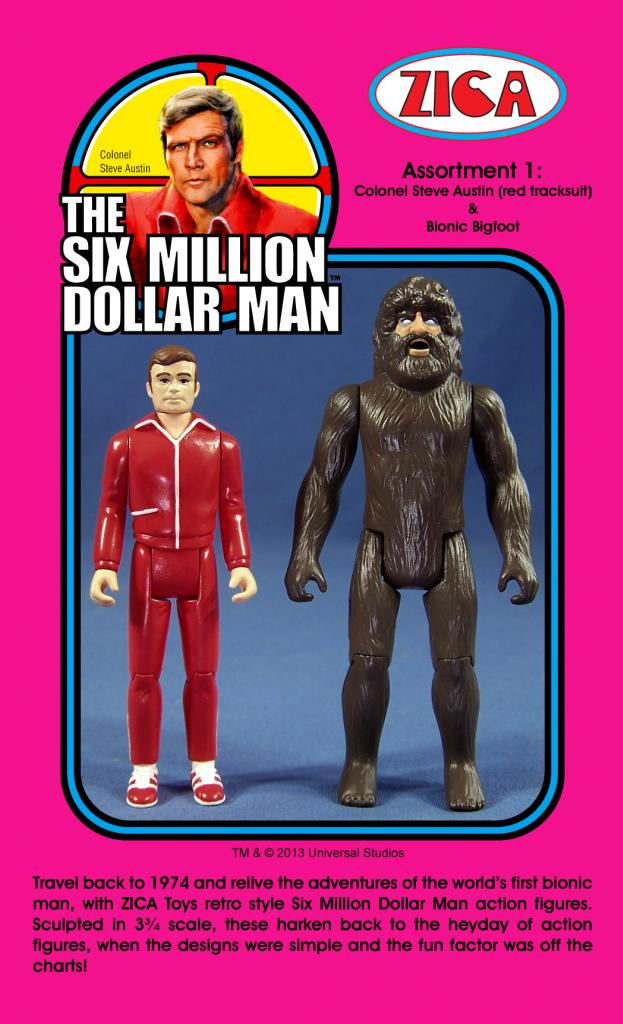 "Zica Toys Kenner Siz Million Dollar Man 3.75"" Action Figures"