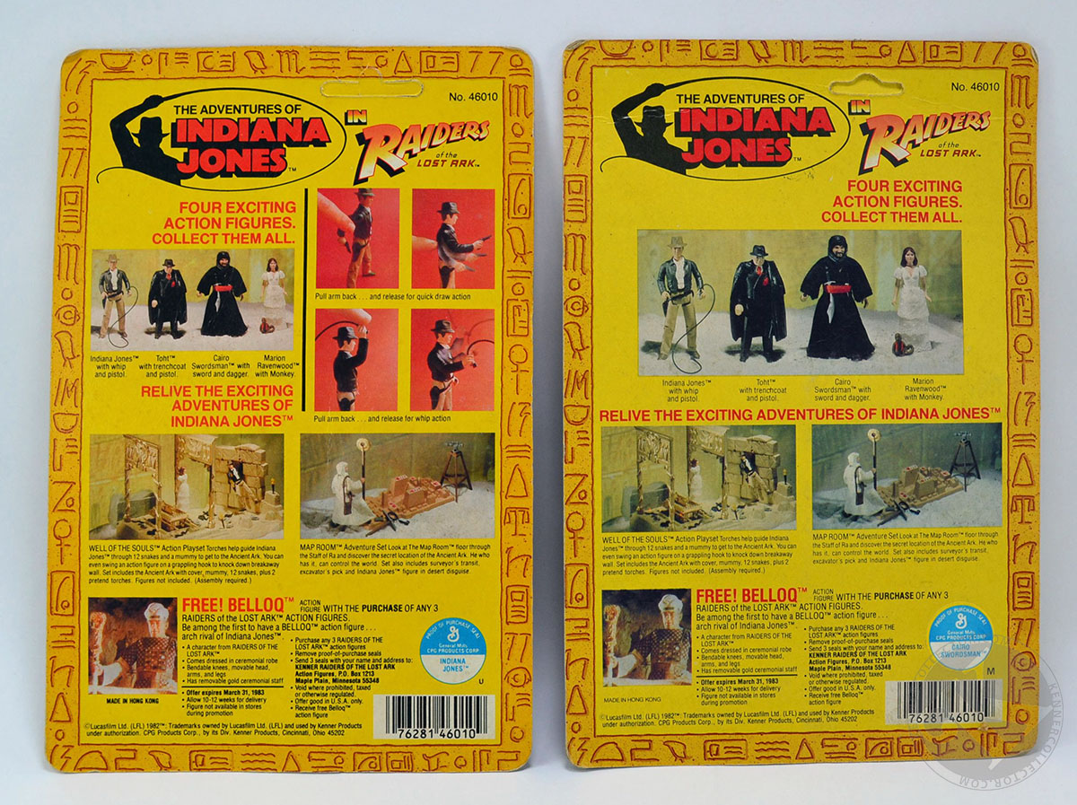 kenner indiana jones action figures quality control