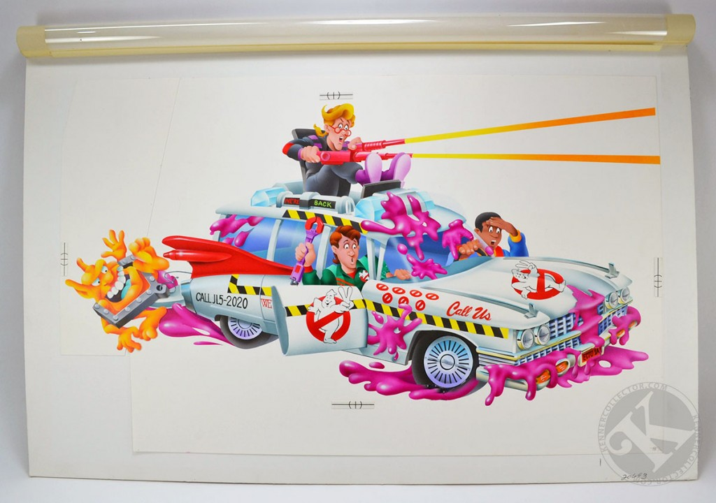 Kenner Real Ghostbusters Ecto-1A Box OriginalArt