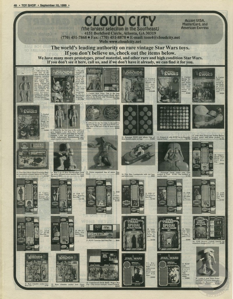 Kenner Collector Steve Denny Interview Toy Shop Ad