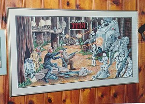 Kenner Collector Steve Denny Star Wars Prototype Jedi Original Art