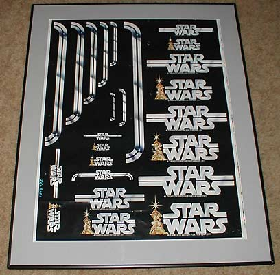 Kenner Collector Steve Denny Star Wars Prototype Logo Sheet