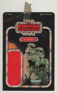 Stormtrooper 31 back proof card used to label a large box full of proofs