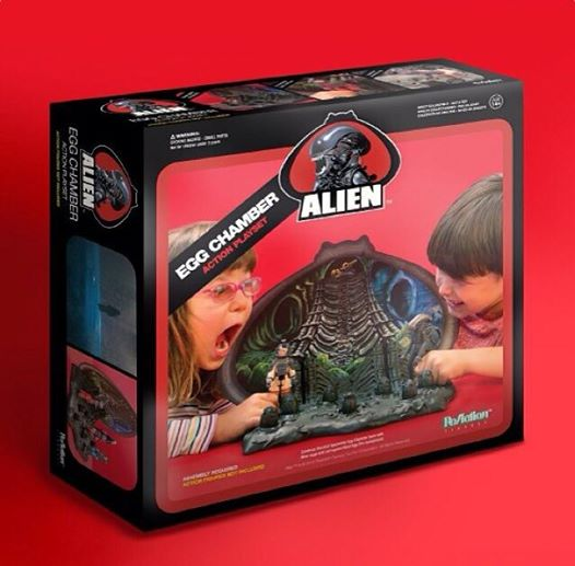 Kenner Super7 Alien 2014 Black Box Egg Playset