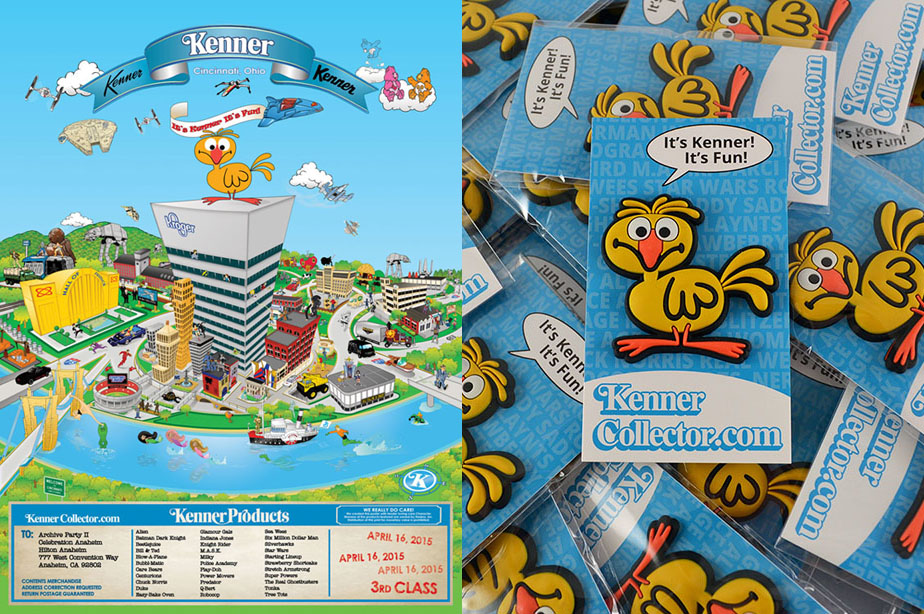 Kenner Collector Fun Map Poster and Gooney Bird Pin